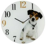 Dog with clock